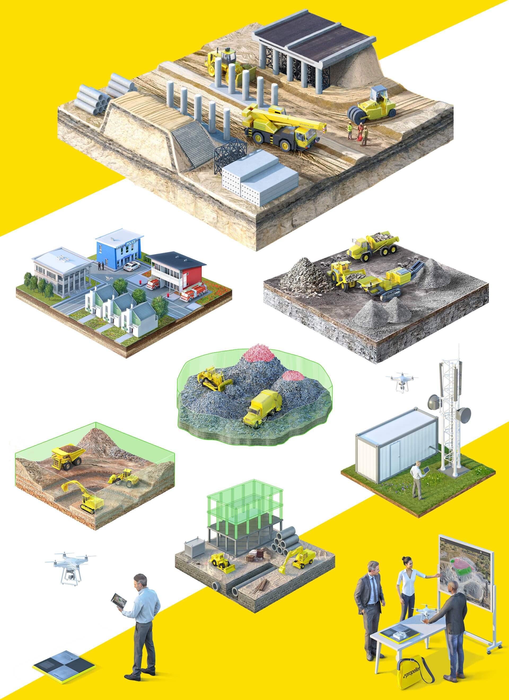 3Д іконки індустрій для сайту Propeller Aero