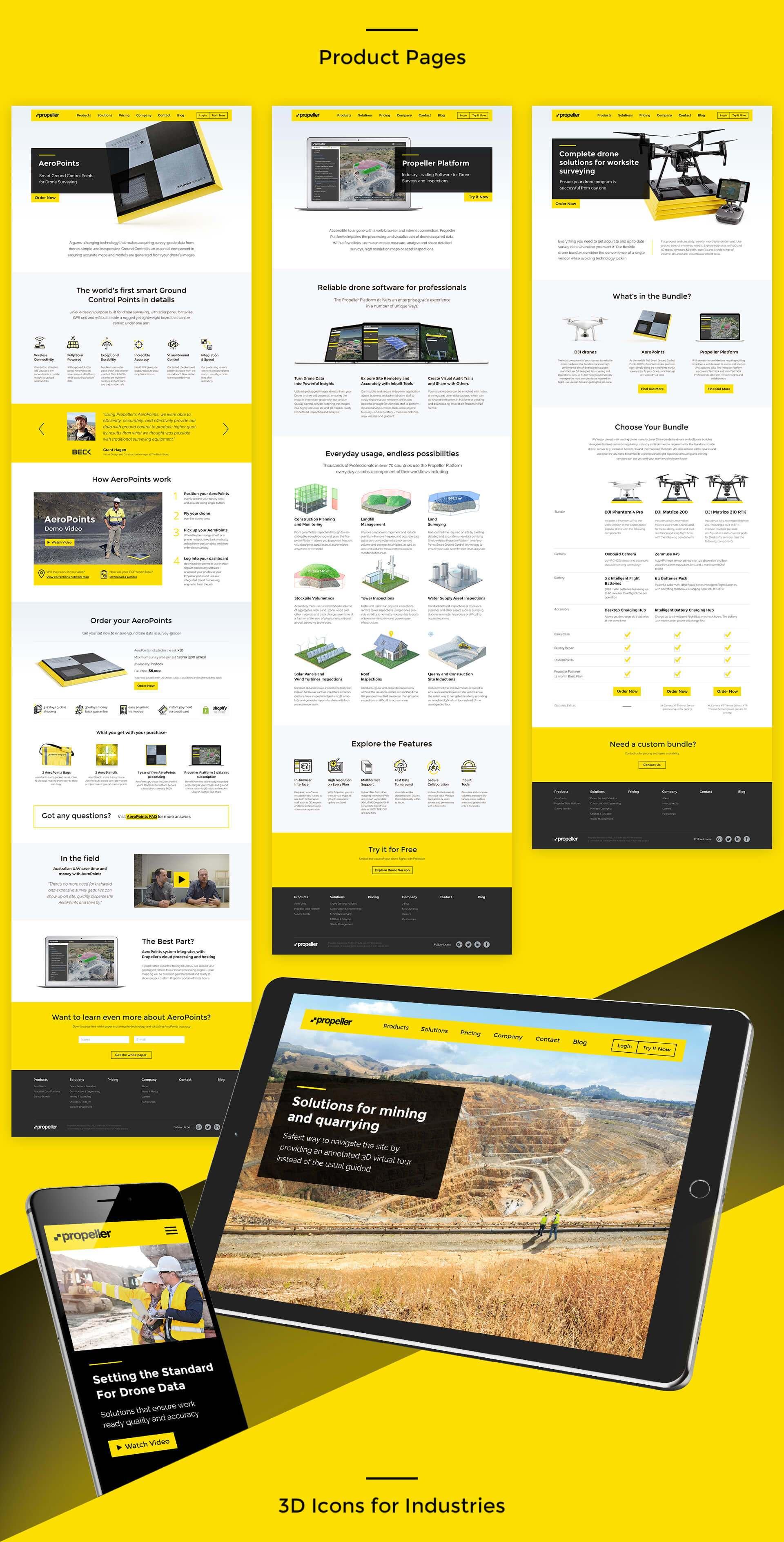 Propeller Aero Corporate Website - Vataga Agency