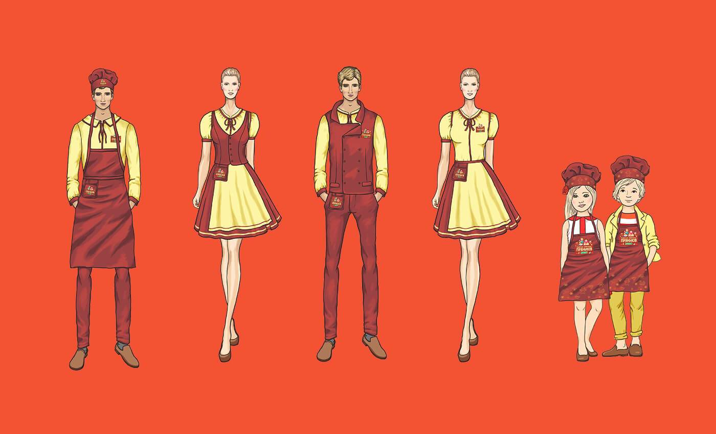 Ескізи одягу для майстер-класів та працівників Львівської Майстерні Пряників «Юрашки»