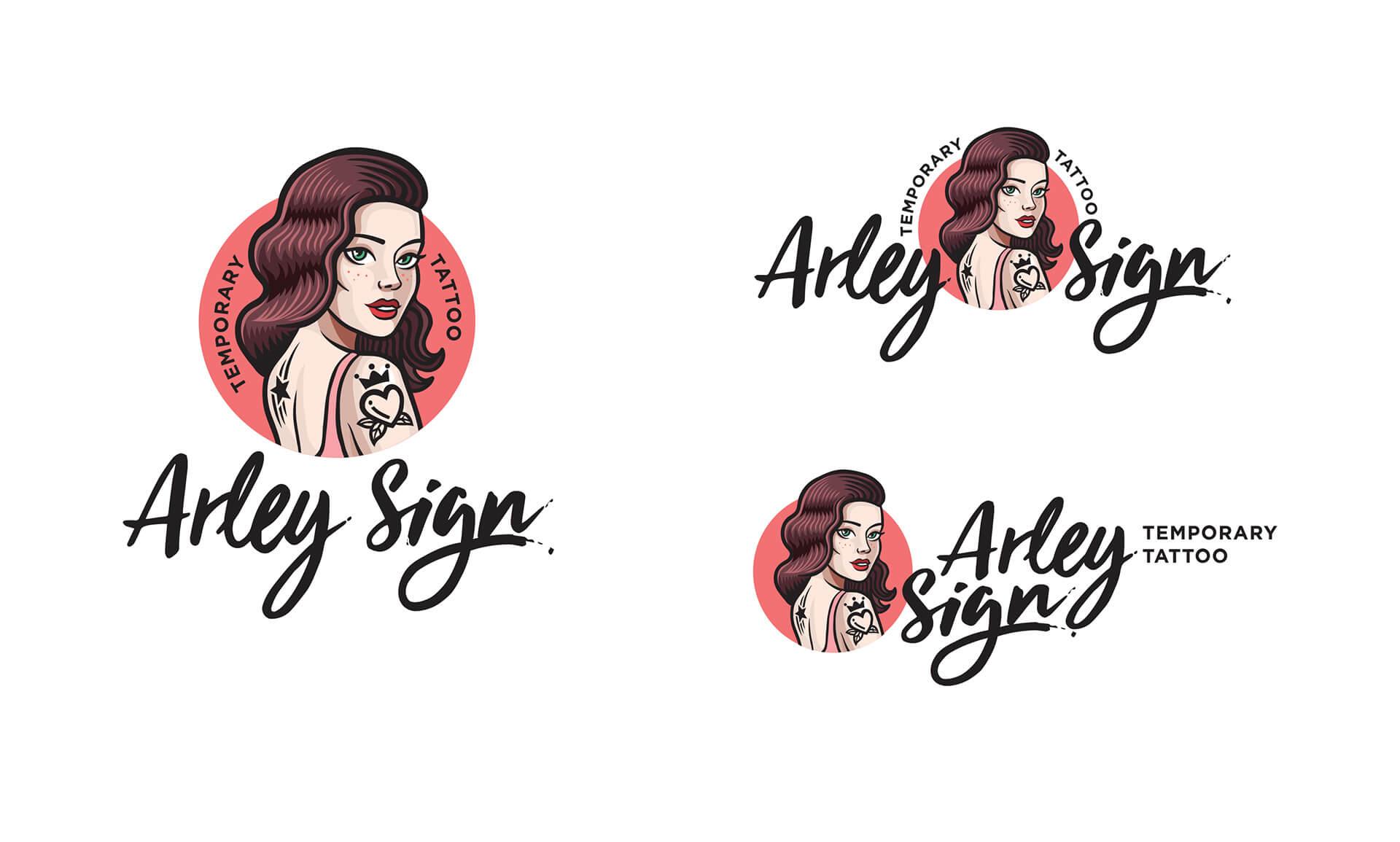 Додаткові версії логотипа «Arley Sign»