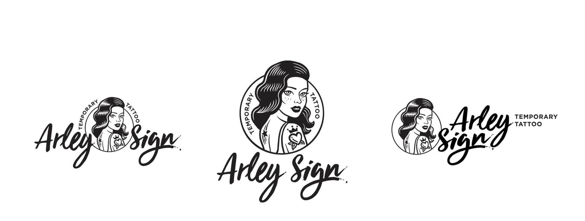 Одноколірна версія логотипа «Arley Sign»