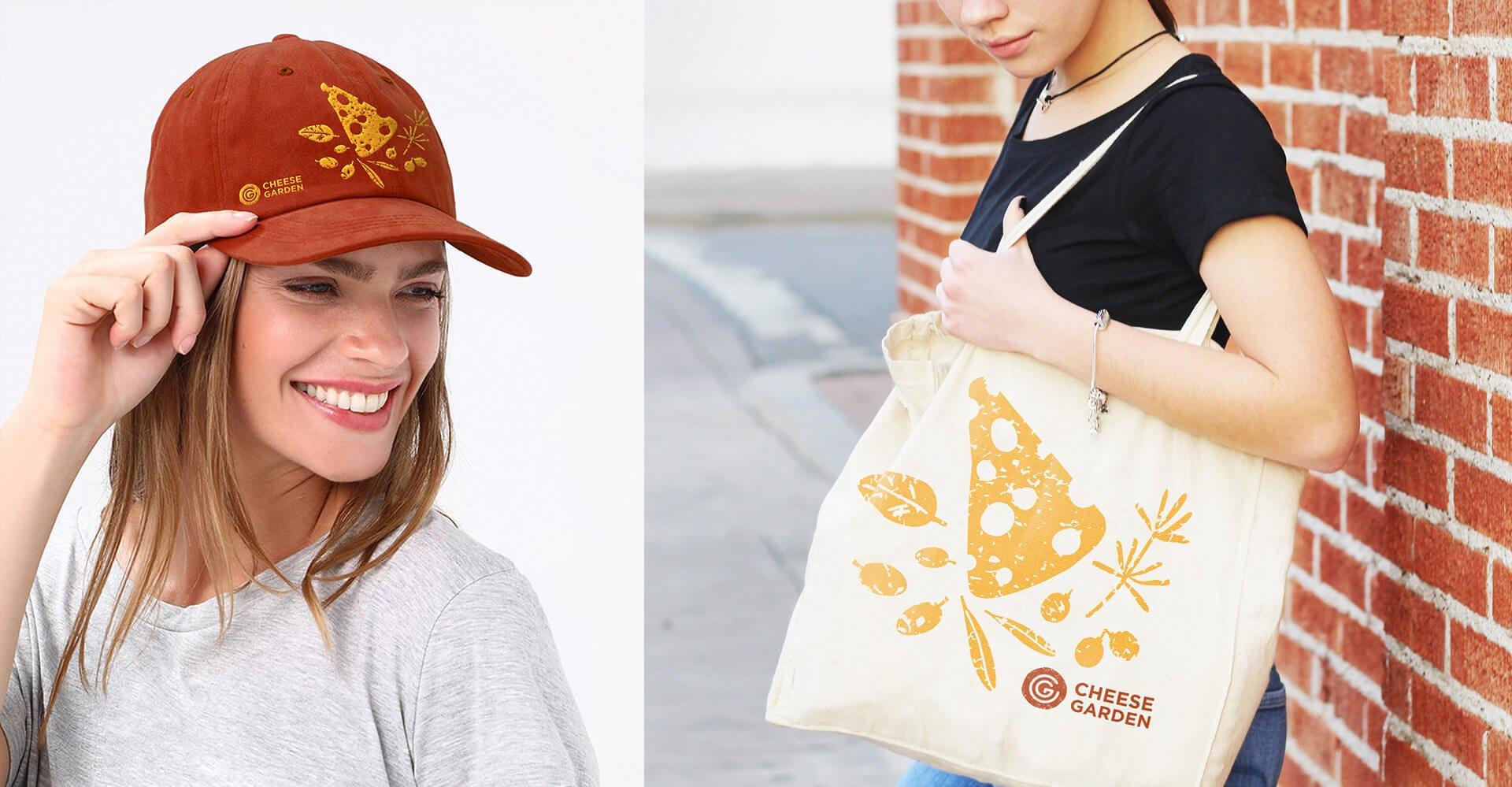 Подарункова кепка та еко торба «Cheese Garden»