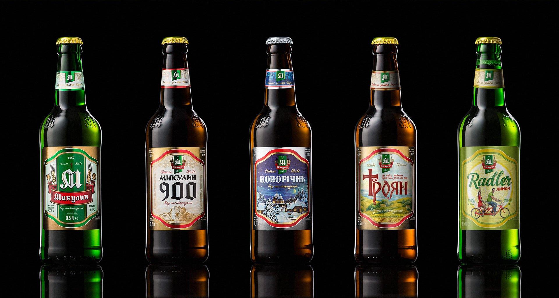 Дизайн «Особливої» лінійки пива микулинецької броварні