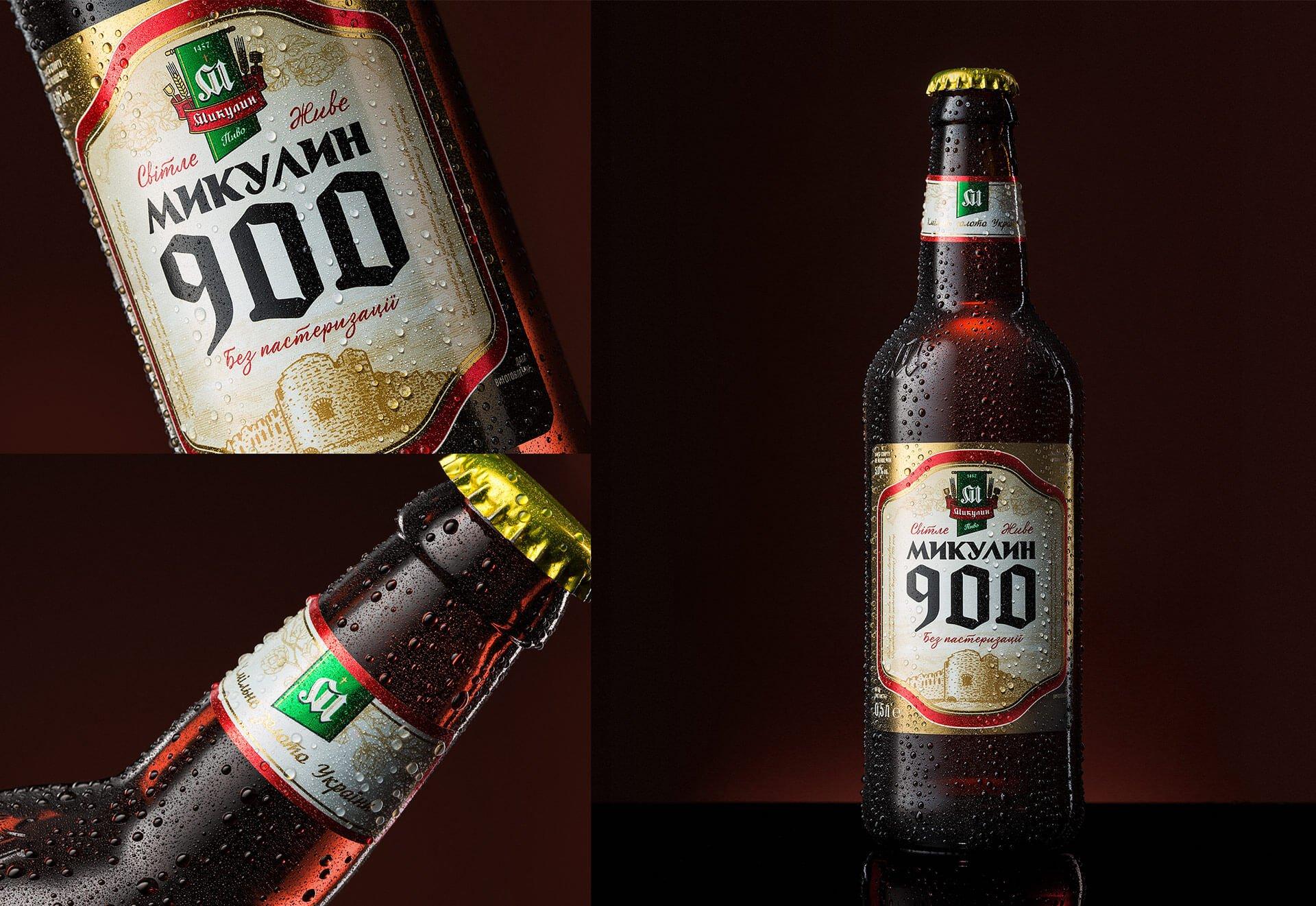 Новий дизайн етикетки пива «Микулин 900»
