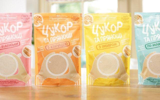Дизайн упаковки універсальної суміші «Цукор та прянощі»