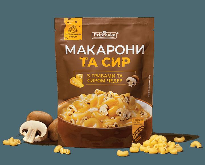 Створення дизайну серії упаковок «Макарони та Сир»