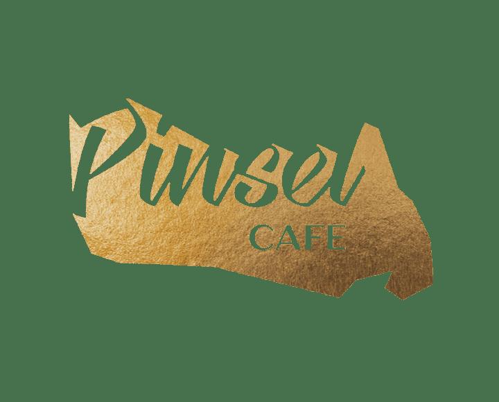 Pinsel Cafe logo signage
