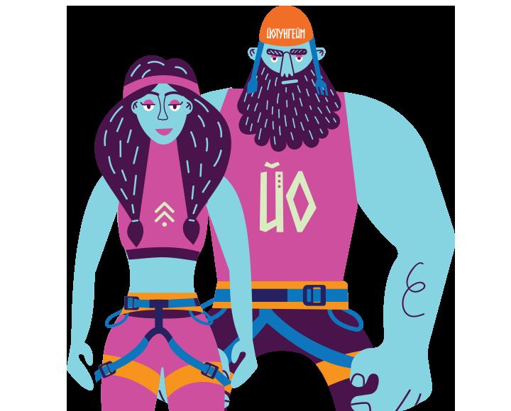 Розробка логотипа та фірмового стилюдля квест парку «Йотунгейм»